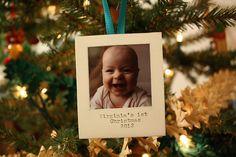 polaroid christmas ornament