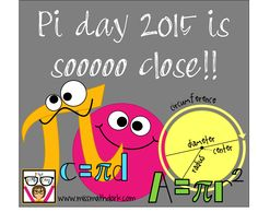 """It's the MOST...WONDERFUL.... time.... of the year!!!!""  Yep, it's coming!!  Pi day 2015 is almost here!!  ARE YOU READY?! If you're not, I'm here to help you out! Perhaps you are in the need for ..."