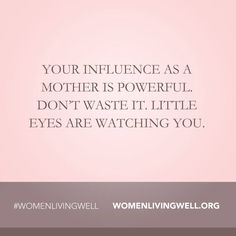A mother's influence. #sacred