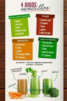 Mas recetas de licuados sencillos