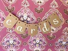 Wedding cards banner / bunting  / sign for by JanaFitchCakes, $8.00