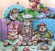 Gary Patterson Cats | Gary Patterson Cats - 2012 - cat art | Gary PATTERSON .Art Illustrati ...