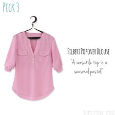 I love this pretty pink summery top. I could see wearing it lots of ways.