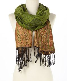 Look what I found on #zulily! Emerald Paisley Pashmina Reversible Scarf #zulilyfinds