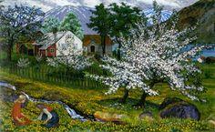 Nicolai Astrup (1880-1928) - Apple Trees in Blossom