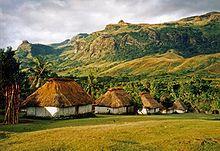 Fiyi - Cabañas tradicionales del pueblo de Navala, en la isla Viti Levu, la más grande de Fiyi.
