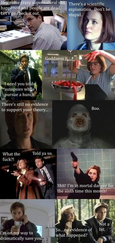 The X-Files in a nutshell. Ha!