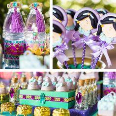 Drinks + Favors from a Princess Jasmine Birthday Party via Kara's Party Ideas KarasPartyIdeas.com (8)