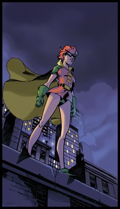 In the Dark Knight Returns, Carrie Kelley sought out Batman and earned the right to fight alongside him as Robin using her home made costume. She later took up the mantles of Catgirl, Batman, Batgirl, and Batwoman Robin Comics, Dc Comics Art, Comics Girls, Marvel Dc Comics, Batwoman, Nightwing, Batgirl, Gotham, Bat Pics