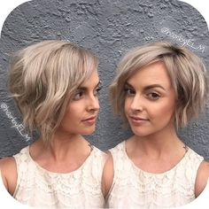 Short Cute Haircuts for Stylish Ladies. Looking for a chic yet adorable short haircuts for a fresh look? Here in this post you will find Cute Short Haircut Short Hairstyles For Women, Pretty Hairstyles, Bob Hairstyles, Hairstyle Ideas, Short Wavy Hair, Short Hair Styles, Short Blonde, Ash Blonde, Blonde Bobs