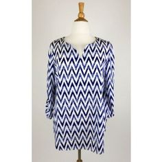 http://www.salediem.com/sales/summer-tops-clearance-curvy/plus-gorgeous-zig-zag-print-woven-top-with-tabs-on-sleeves.html Plus Gorgeous zig zag print woven top with tabs on sleeves - #salediem #fashion #women'sfashion #tops #lplus  #salediem #fashion #women'sfashion #tops #lplus