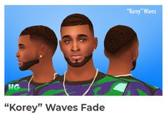 """""""Korey"""" Waves Fade A touched up version of one of y earliest forays into cc making. And the really does need a wavy fade cut, do you agree. Maxis Match All Maxis Colors Teen-Elder Hand-Painted. Black Men Hairstyles, Ethnic Hairstyles, Black Hairstyle, Medium Hairstyles, Sims Four, Sims 4 Mm, Sims 4 Afro Hair Male, Sims 4 Stories, Maxis"""