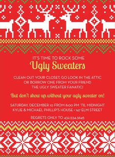 Ugly Sweaters invitation