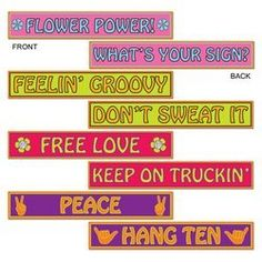 60's Street Sign Cutouts Party Accessory