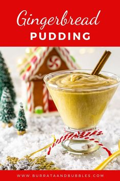 This gingerbread pudding is a festive and easy holiday dessert that the whole family will love. With its rich creamy custard and gingerbread spice this pudding will be a new favorite holiday recipe. Trifle Desserts, Fun Desserts, Delicious Desserts, Dessert Recipes, Drink Recipes, Custard Desserts, Hot Fudge Cake, Hot Chocolate Fudge, Easy Holiday Desserts