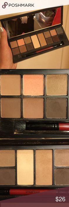 Smashbox Photo Matte Eyes Eyeshadow Palette Very lightly used! Includes brush. Will clean with brush cleaner. Smashbox Makeup Eyeshadow