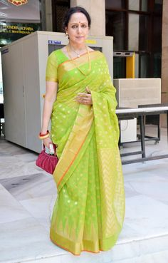 Hema Malini at @nisshk's wedding. #Bollywood #Fashion #Style #Beauty
