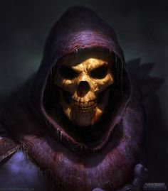 Skeletor from Masters of the Universe portrait series, by Dave Rapoza