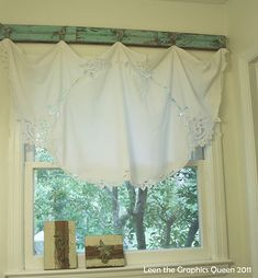 Love this way to hang a curtain!