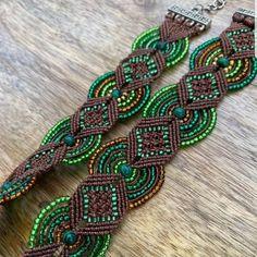 Spring Choker / Green beaded necklace / Handmade jewellery / boho jewelry/ one of a kind / tattoo choker / armband / bracelet Macrame Jewelry, Boho Jewelry, Handmade Jewellery, Handmade Necklaces, Smoky Quartz Necklace, Tattoo Choker, Beaded Necklace, Beaded Bracelets, Blue And Silver