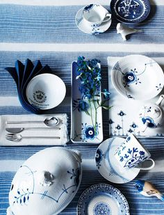 More is more when it comes to blue & white. This would be so pretty atop a table set for Easter celebrations.