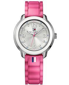 Tommy Hilfiger Women's Pink Silicone Strap Watch 36mm 1781419