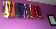Love this display for TaeKwonDo belts