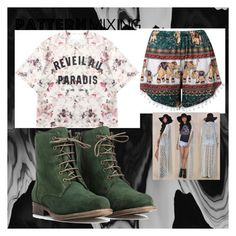 """""""casual mix print pattern"""" by msraver on Polyvore featuring Momewear, JJ Footwear and patternmixing"""