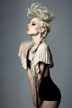 Blonde hair in messy up do by Paul Falltrick