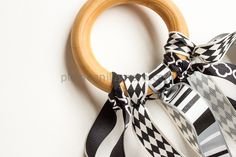 DIY Wooden Ring Ribbon Teether - love this idea!  Would make a great gift.