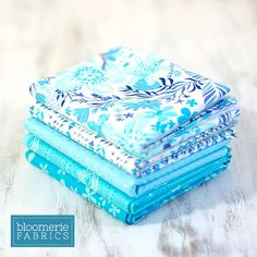 When no other color will do:   Azure Breeze Fat Quarter Bundle