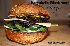 Marinated Portabella Mushroom Burger