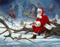 Santa relaxing in nature