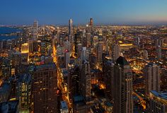 Chicago skyline from above!