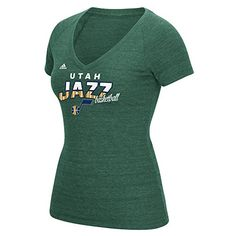 NBA Utah Jazz Womens Horizon Lines TriBlend VNeck Tee Small Green     You  can 6d7810ea0