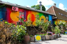 One of the few places you CAN photograph in Christiana, Copenhagen's hippie enclave. #colorful #denmark