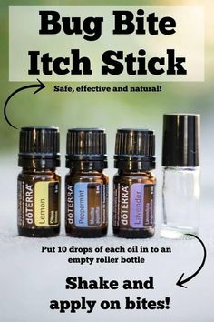 doTERRA Essential Oil Homemade Bug Bite Anti Itch Stick Recipe doTERRA Essential Oil Recipes