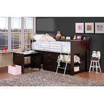 Walmart: Savannah Storage Loft Bed with Desk, Espresso