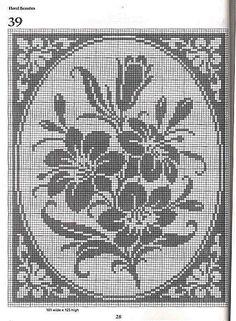 101 Filet Crochet Charts 28-1 by Suzana16, via Flickr
