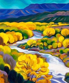 Landscape Paintings and photographs : Tracy Turner New Works Gallery Landscape Quilts, Landscape Art, Landscape Paintings, Landscapes, Southwestern Art, Desert Art, Naive Art, Painting & Drawing, Painting Abstract