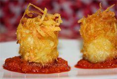 Patatas bravas crujientes | Azafranes y Canelas | https://lomejordelaweb.es/ Pinterest ^^ | https://pinterest.com/Ilovecocinar/