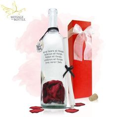 """Message in a Bottle ® """"TRUE"""" Personalized Gift by Message In A Bottle, Inc.. $51.96. Write Your Message In The """"NOTES"""" Section Of Checkout Or Send Email To sales@messageinabottle.com For Messages Longer Than 255 Characters. IMPORTANT - If text is not received within 48 hours of placing order, item will be shipped as ordered.. Unmatched Attention To Detail & Meticulous Hand Assembly Make For An Easy To Send Gift That Will Impress.. Real Burnt Paper Edges & Beautiful Red Silk Fl..."""