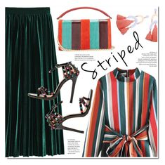 """Pattern Challenge: Stripes on Stripes"" by duma-duma ❤ liked on Polyvore featuring Diane Von Furstenberg, stripesonstripes and PatternChallenge"