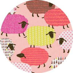 Japanese Import, OXFORD, Shapely Sheep Pink (Why don't I own this fabric already?)