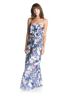 roxy, Easy Tropical Long Cover Up, NOOSA FLORAL COMBO CHAMBRAY (pmk6)