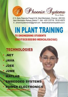 InPlant Training for Embedded Systems in Chennai Greetings from Phoenix Systems,Chennai. IMPORTANCE OF INPL .. http://chennai.adeex.in/inplant-training-for-embedded-systems-in-chennai-id-1176223