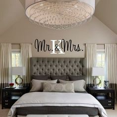 Vinyl Wall Decal Stick with Initial -Bedroom Decal – Bedroom Decor – Wedding Gift Mr. Vinyl Wall Decal Stick with Initial -Bedroom Decal – Bedroom Decor – Wedding Gift Teenage Room Decor, Home Decor Bedroom, Bedroom Wall, Bedroom Furniture, Couple Bedroom Decor, Dark Furniture, Diy Bedroom, Bed Room, Master Bedroom Decorating Ideas