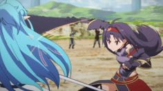 One of the best fights in the entire series of Sword Art Online. This is from Sword Art Online II. Asuna vs Yuuki. See more gifs like this at my website!