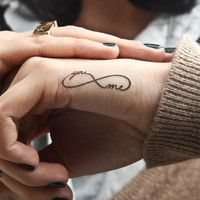 """you and me forever"" infinity tattoo"