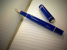 Amazon.com: Parker Duofold Fountain Pen, Lapis Lazuli Centennial ...